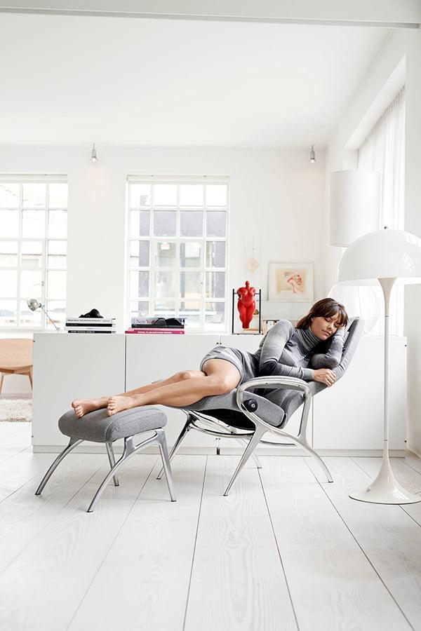 stressless you john aluminum. Black Bedroom Furniture Sets. Home Design Ideas