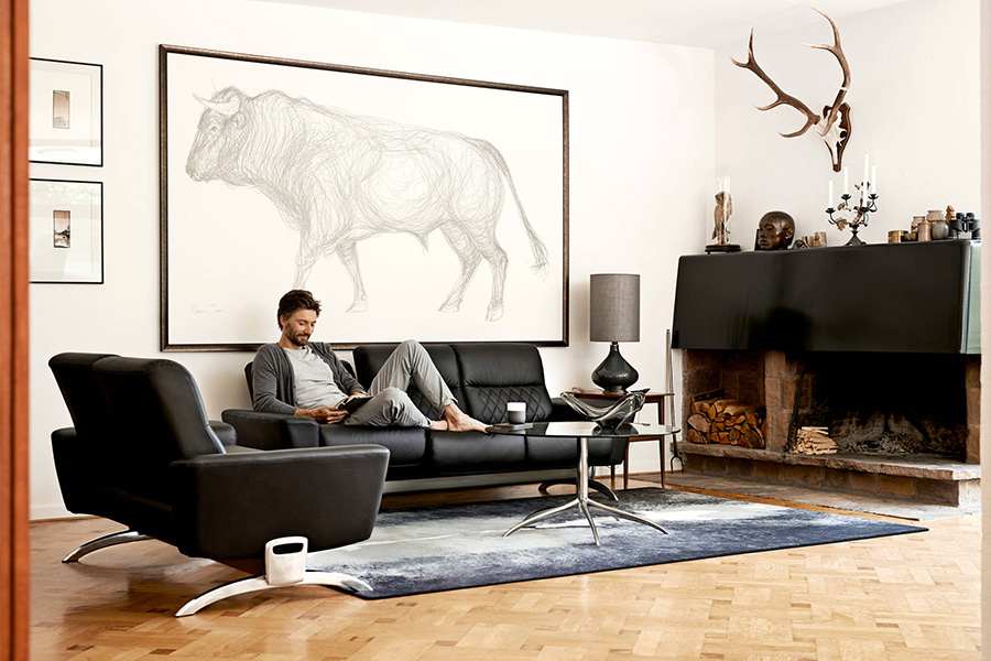 stressless you michelle three seater. Black Bedroom Furniture Sets. Home Design Ideas